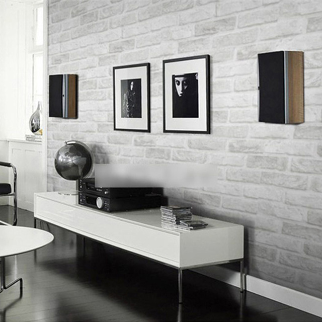 Gris Blanc Brique Motif Papier Peint Pour Murs Rouleau 3D Salon Chambre  Pierre Brique Papier Peint Décor À La Maison Papel De parede 3D