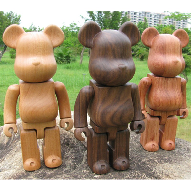 Original Fake Beech Black Walnut 400% Be@rBrick Gloomy Bear Gary Action Figure BFF Baseman Toby Bearbrick Model Toy L2294 400% bearbrick bear brick ted2 bear model art figure as a gift for boyfriends girlfriends and students