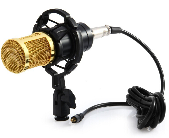 Professional MIC Studio Microphone Condenser Sound Recording Microphone BM - 800 with Shock Mount for Radio Kit KTV 100% new professional bm 800 bm800 condenser sound recording microphone with shock mount for radio braodcasting singing black