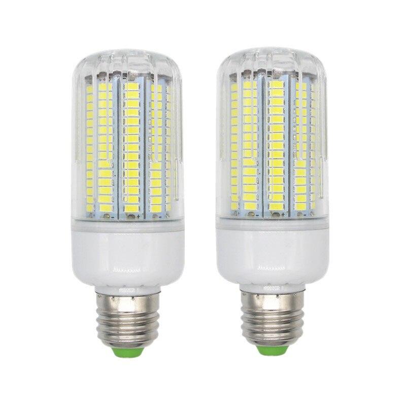220V  170leds Smart IC SMD5736 led lamp chandelier led bt Dissipation High Bright Lampada LED Lamps  Corn Bulb Global light 2pcs real full watt 3w 5w 7w 8w 12w 15w e27 e14 led corn bulb 85v 265v smd 5736 led lamp spot light 28 40 72 108 132 156 leds