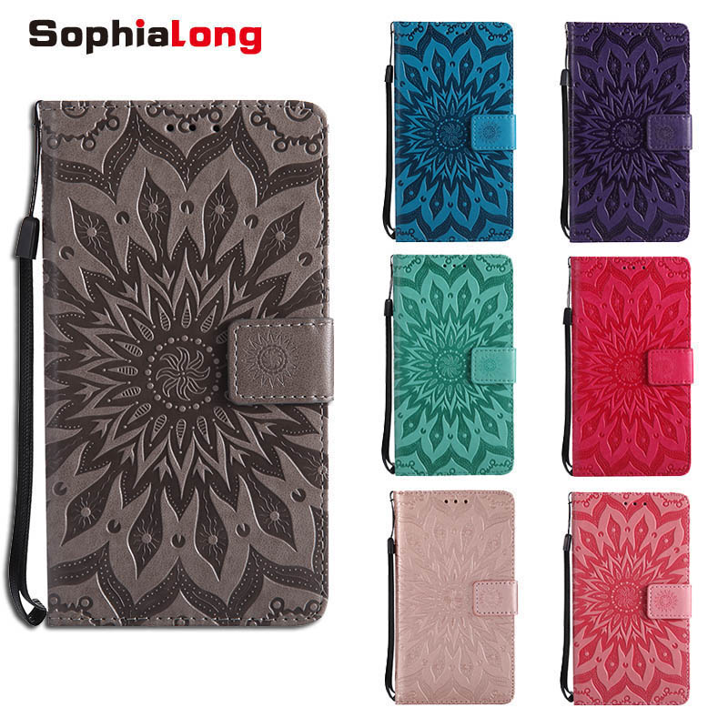 SophiaLong Case sFor Fundas LG Stylo 4 Stylus 4 Q8 2018 case For coque LG Q Stylus Stylo4 Wallet Cover Mobile Stand Phone Cases