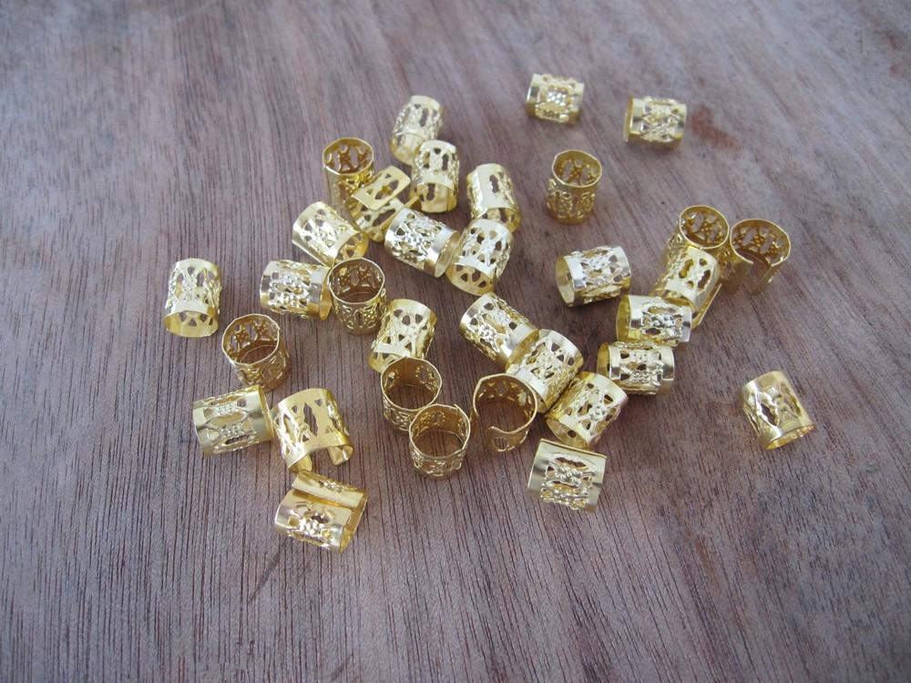Aliexpress.com : Buy 100 Golden Dreadlock Beads Adjustable ...