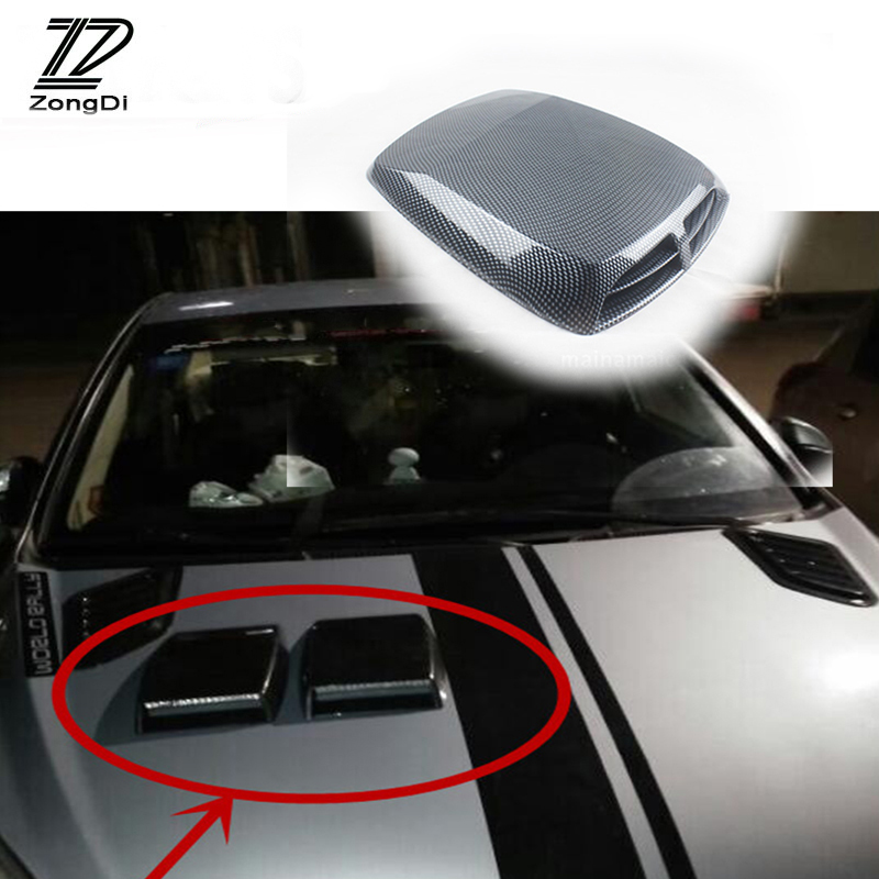 ZD For Kia Rio 3 Ceed Toyota Corolla 2008 Avensis C-HR RAV4 Mazda 3 6 Car Front Fender Engine Hood Air Vent Trim Cover Sticker air intake aluminium pipe kit for toyota corolla 1 6 1 8 2 0 rumion of rh drive noah pls contact for other car models
