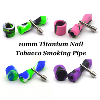 Mini Tobacco Smoking Pipe Cigar Pipes Concentrate Oil Silicone Pipes Smoking With Titanium Nail Silicone Nectar