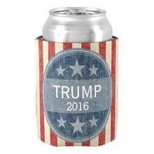 Unique Donald Trump  for President 2016 Can Cooler Special Neoprene Can Holder Beverage and Drink Insulators Beer Can Insulators