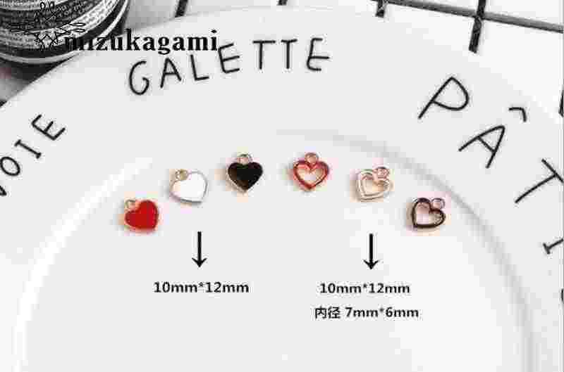 亜鉛合金継手中空思いやりミニエナメルハートチャーム 10 ピース/ロット Diy のファッションジュエリーメイキングのため検索アクセサリー