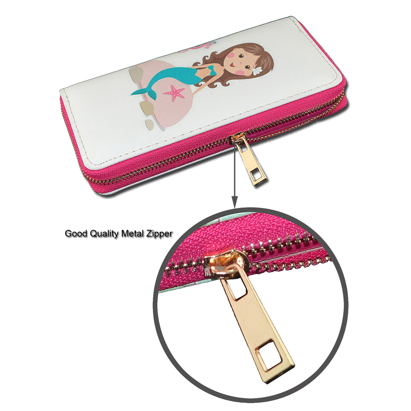 TZECHO Long Wallet for Women With Phone 7 Style Walet Mermaid Clutch Female Purses Rfid Credit Cards Holder Ladies Women Wallets