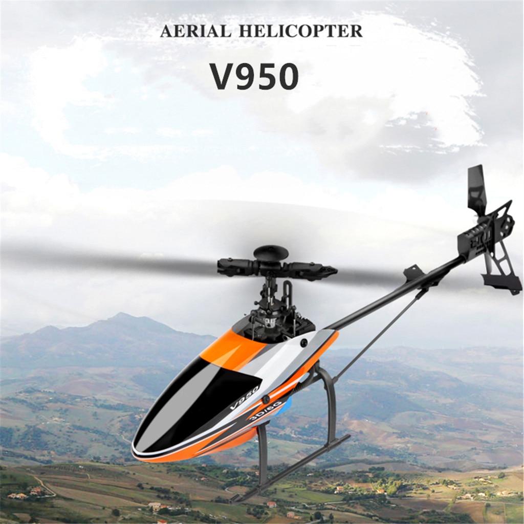 WLtoys V950 2.4G 6CH 3D 6G système sans balai moteur sans mouche hélicoptère RC 3D AKA interrupteur de ralenti Mini Drone volant Minion