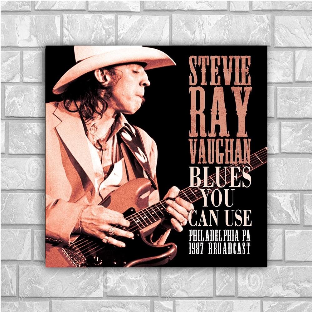 stevie ray vaughan art silk poster home decor 12x12 24x24inch