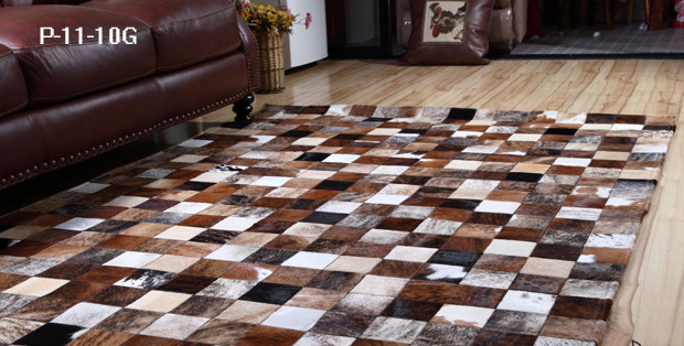 2018 Free Shipping 1 Piece Via Dhl 100 Natural Genuine Cowhide Rubber Backed Washable Rugs