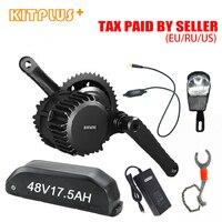 Bafang 48V 500W Mid Drive Motor with Ebike Battery 17.5AH Bafang Electric Bike Kit with Optional Display