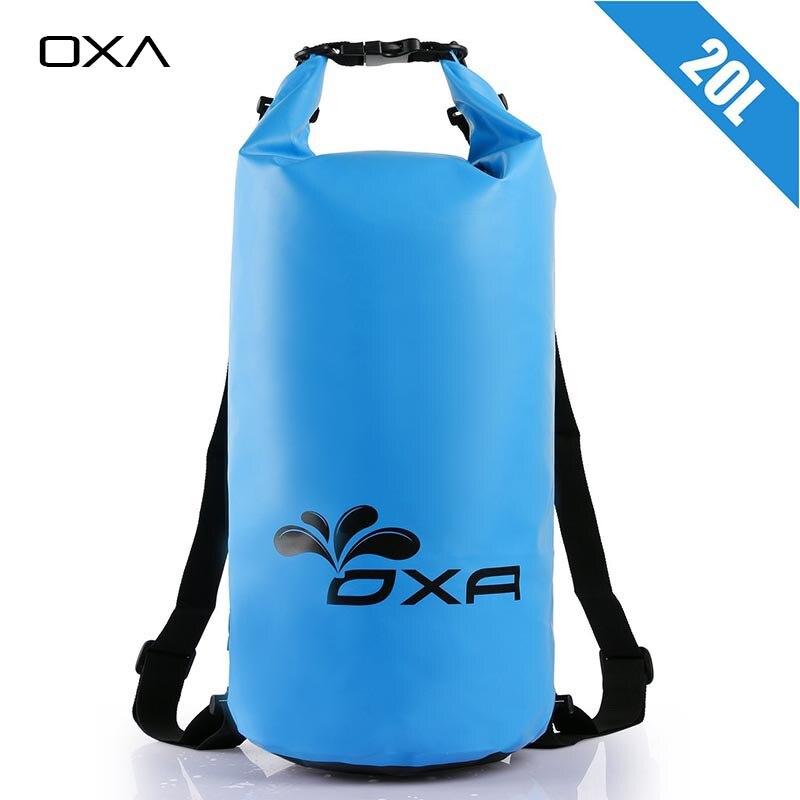 Prix pour OXA 20L Extérieure PVC IPX6 Étanche Dry Sac Durable Léger Plongée flottant Camping Randonnée Sac À Dos De Natation Sacs