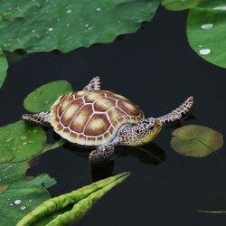 Kreatywna żywica pływająca żółw statua ogrodowa staw dekoracyjna śliczna żółwiem morskim rzeźba dla domu wystrój ogrodu Ornament