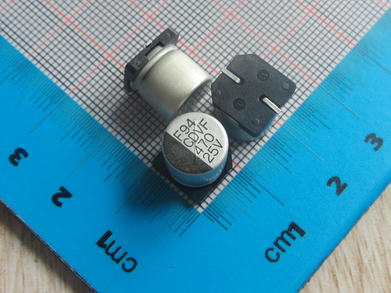 Free Shipping 50pcs/lot high Quality <font><b>SMD</b></font> Aluminum Electrolytic Capacitor <font><b>25V</b></font> <font><b>470UF</b></font> 10*10.3MM electrolytic capacitor <font><b>470uf</b></font> image