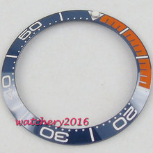 38mm Blue & Orange Ceramic bezel insert for 40mm submariner GMT automatic men's watch shellhard 38mm ceramic bezel insert gmt automatic men s watch case wristwatch part 4 colors for seiko skx 007 009 watches