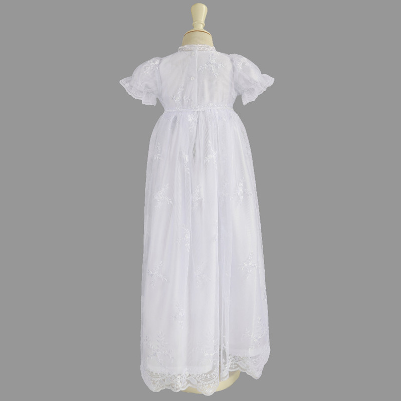 4db05fa7c19b0 Buy Nimble Baby Wear Girls White Lace Embroidered Baptismal ...