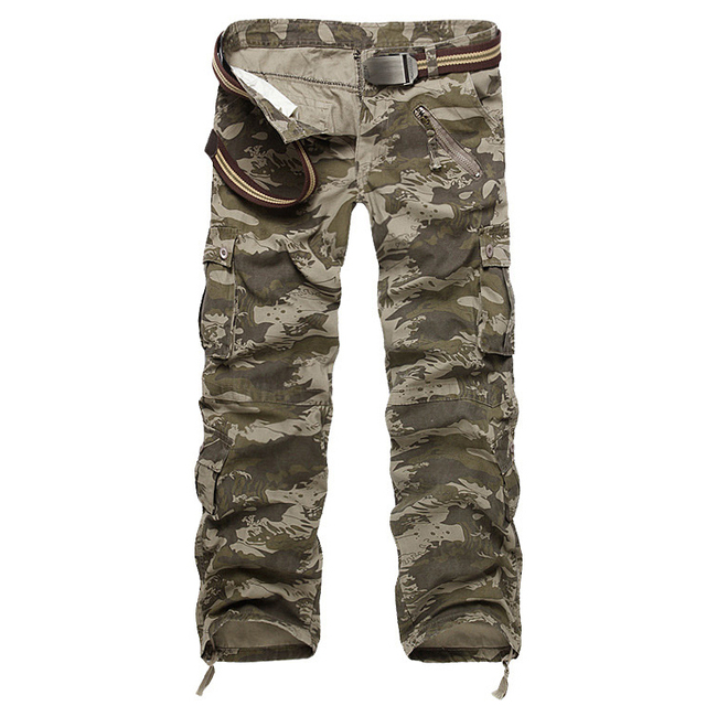 Hot sale free shipping men cargo pants camouflage  trousers military pants 7 colors 3
