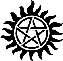 Supernatural Anti-Possession Pentagram car window sticker vinyl decal funny JDM and all the smooth surface
