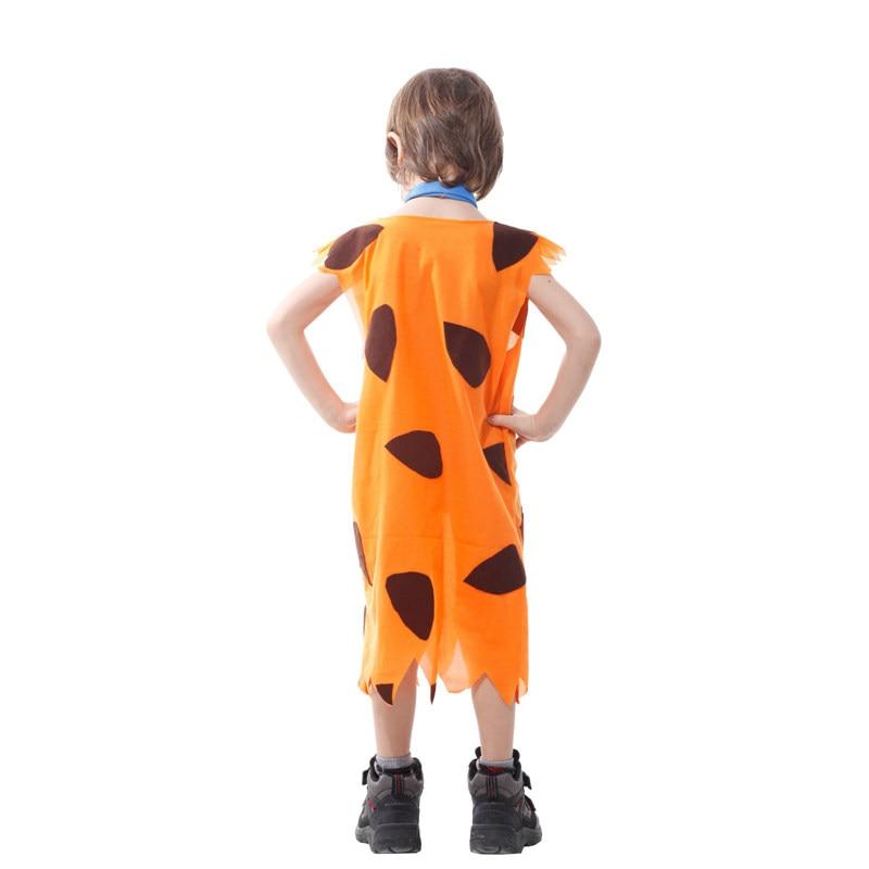 Kids Child Stone Age Indian Boy Flinstones Costume Primitive Savages Cosplay Halloween Carnival Party Mardi Gras Fancy Dress 4