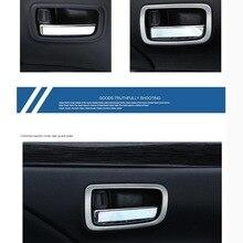4 Stücke DIY Auto Styling Edelstahl Inner Griff Licht Box aufkleber für Mitsubishi Outlander 2013-16 zubehör