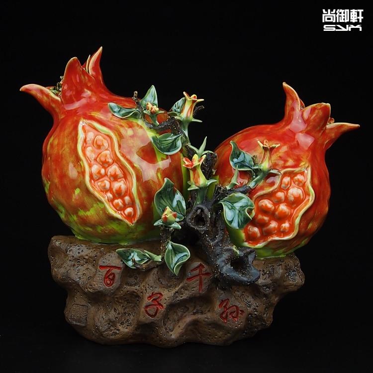 Shiwan кукла мастер тонкой керамики украшения потомки граната богатые украшения Главная Обстановка спальни гостиной decorat