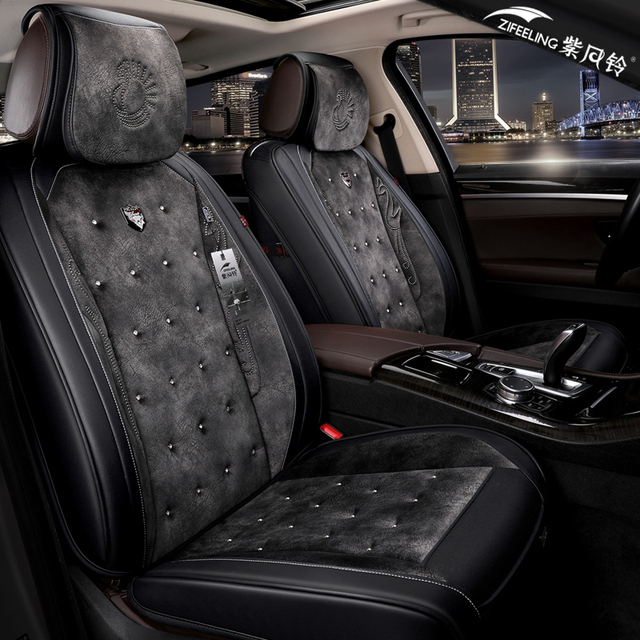 Us 120 25 35 Off Zifeeling New Styling Leather 3d Car Seat Covers Front Rear Complete Set For Universal 5 Seat Car Four Season In Automobiles Seat