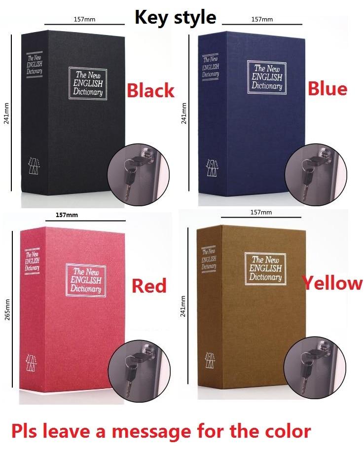 Key Open 24CM*15.7CM*5.5CM English Dictionary Creative Bank Card Pin Money Mobile Phone BooksSafes Savings Bank