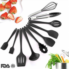 hot deal buy acebon 10pcs/set non-stick kitchenware silicone heat resistant kitchen cooking utensils baking tool cooking tool sets
