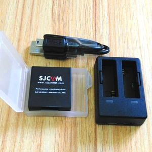 Image 4 - Yeni SJCAM aksesuarları 2 adet orijinal SJ6 piller şarj edilebilir pil + çifte şarj makinesi SJCAM SJ6 Legend spor eylem kamera