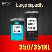 2pcs ink cartridge for HP 350 351 350XL 351XL compatible for HP D4200 D4260 D4263 D4360 J5730 5780 5785 C4380 4480 4580 4270