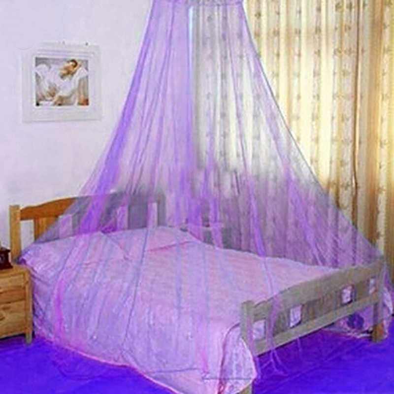 Elegant Lace Insect Bed Canopy Netting Curtain Round Dome Mosquito Net Bedding14