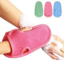 1Pc Soft Shower Glove Cellulite Body Scrub Massager Brush Glove Bath Spar Bathing Accessory Body Brush