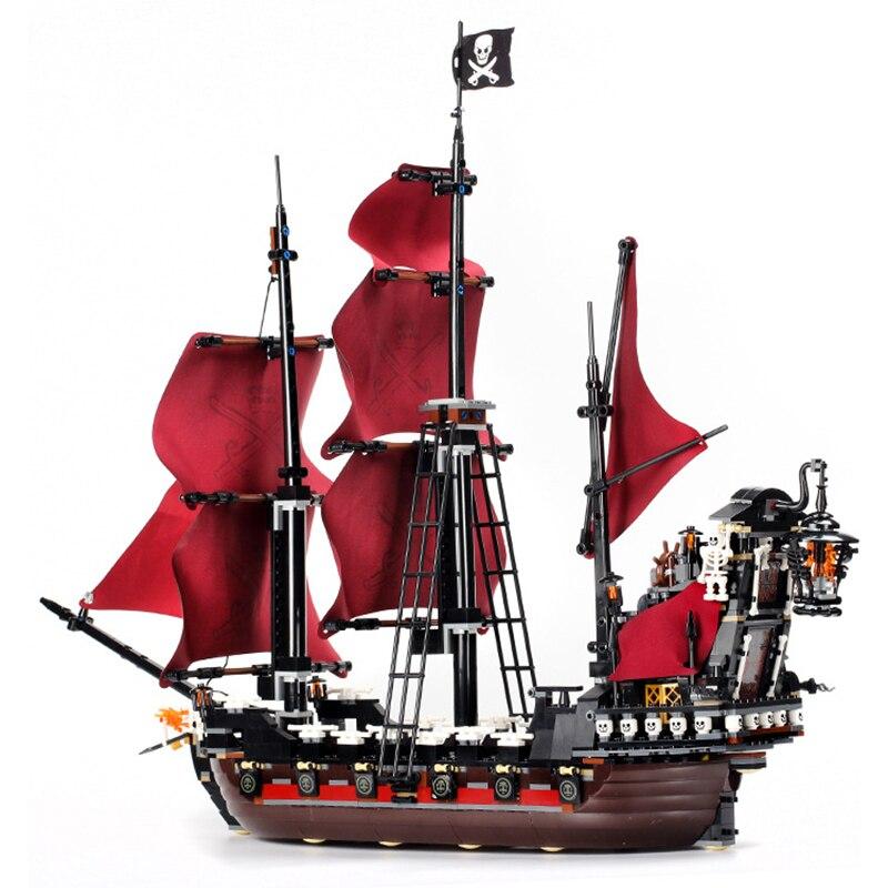 16009 karibik Königin revenge Pirates 16006 Die Schwarz Perle 16018 Geist Pirate Spielzeug Bausteine 4195 Junge Geschenk-in Sperren aus Spielzeug und Hobbys bei  Gruppe 3
