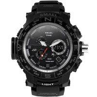 SMAEL Brand GRAY LED Digital Watches Waterproof Sport Watch Clock Dual Time Wrist Watches Men Sport
