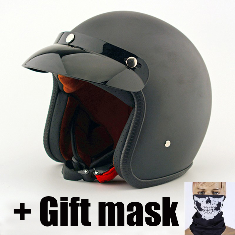 Moto rcycle casques visage ouvert casque Scooter adultes 3/4 moto rétro Jet casques pour moto rcycle moto + cadeau moto rcycle masque