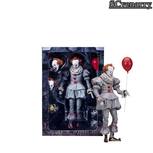 Stephen King é Pennywise Coringa É Figura de Ação Neca Toys Dolls 18 cm