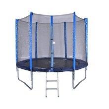 6 футов Высокое качество практичный батут с защитной сеткой безопасности прыгать безопасный комплект Пружина безопасности с лестницей вес нагрузки 250 кг