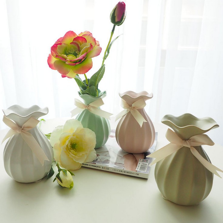 European Ceramic Creative Fashion Vase Modern Porcelain Living Room