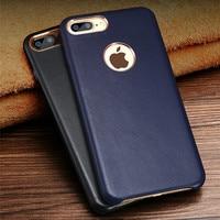 RUZSJ Luxury Sheepskin Leather Phone Case For Iphone 7 Coque Cover Original Genuine IPhone 6 8