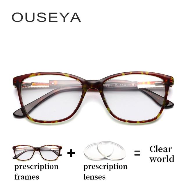 40c1e05400e Acetate Women Optical Glasses Luxury Astigmatism Retro Transition Lens  Aspherical Thin Prescription Eyeglasses  F8861