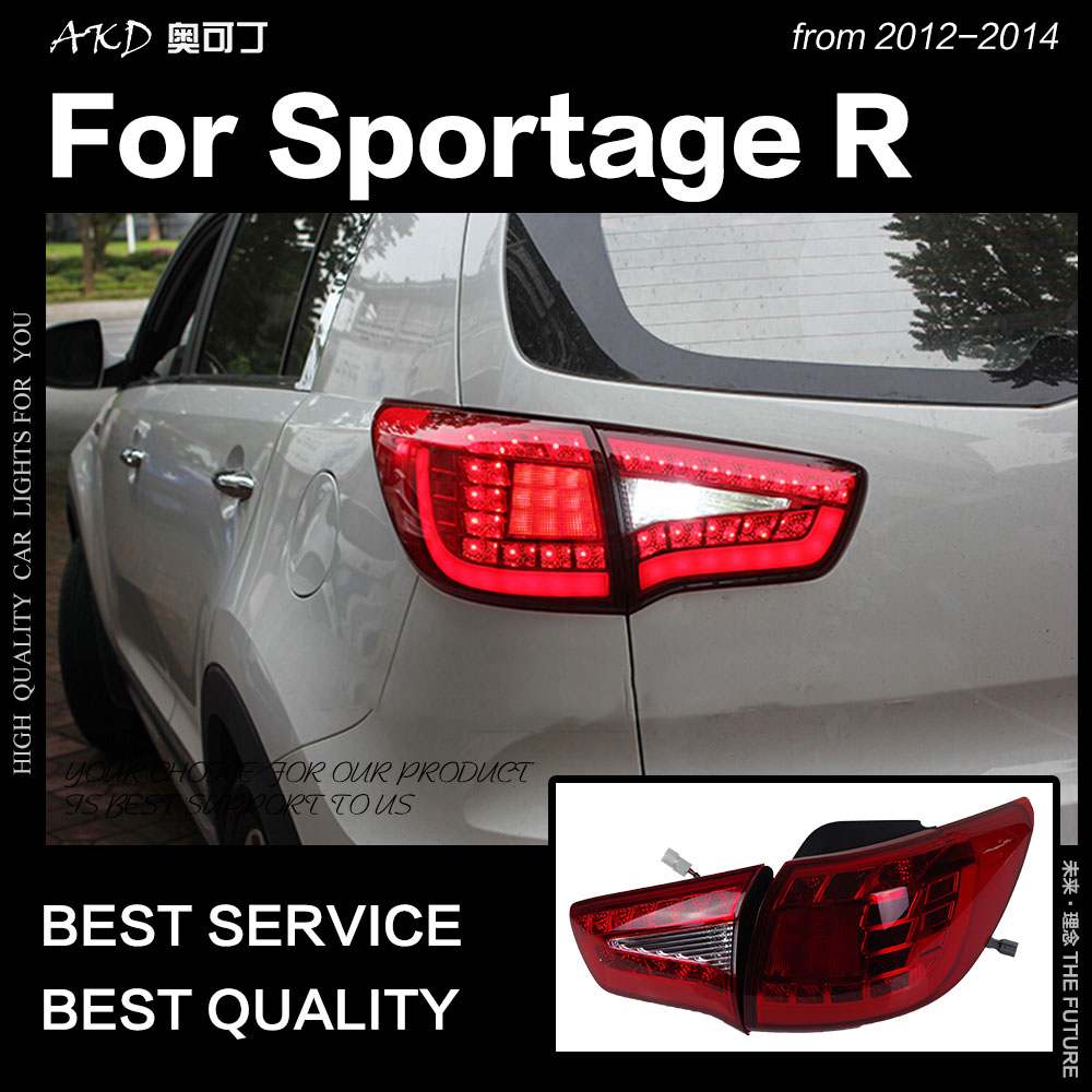 AKD Car Styling for Kia Sportage R Tail Lights 2012 2015 Sportage R LED Tail Lamp DRL Signal Brake Reverse auto Accessories