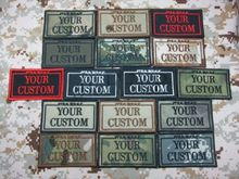 Black custom name tapes chest tapes services tapes morale