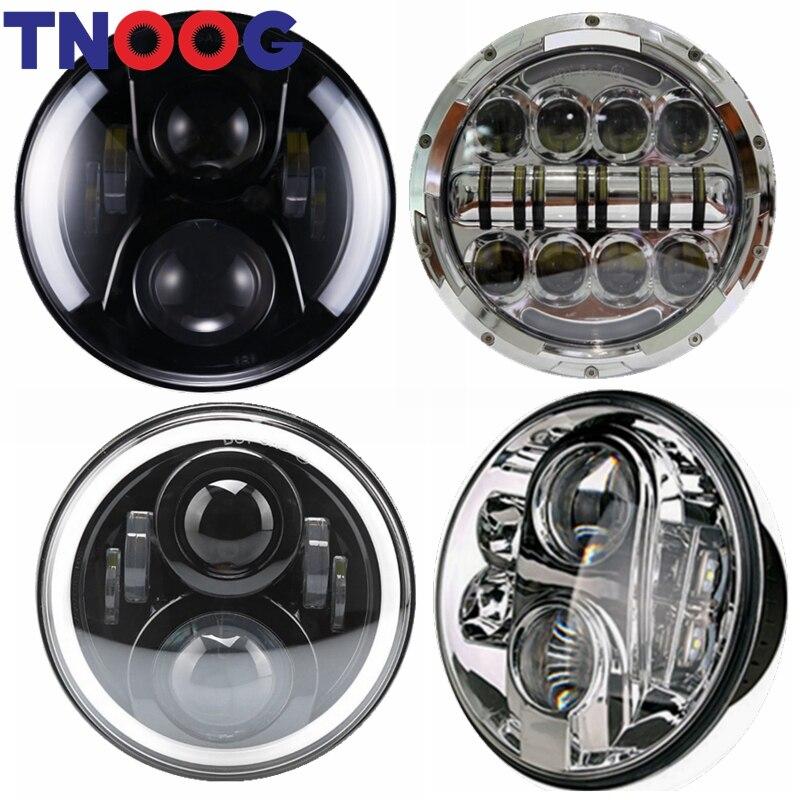 TNOOG 7 pouces H4 rond projecteur LED ampoule de phare pour moto et Wrangler LED phare