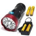 23000lm Мощный Xm-L-11 * T6 led Тактический фонарик водонепроницаемый Факел освещение свет лампы Фонарик + 18650 Аккумулятор + Зарядное Устройство