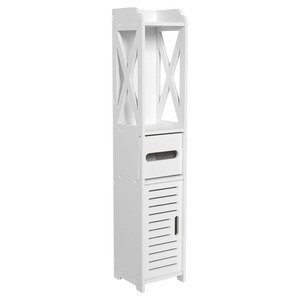 Image 1 - Floor Mounted Storage Cabinet Corner Bathroom Vanity Bathroom Side Cabinet Towel Box Toilet Shelf Living Room Furniture