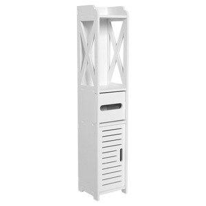Floor Mounted Storage Cabinet Corner Bathroom Vanity Bathroom Side Cabinet Towel Box Toilet Shelf Living Room Furniture