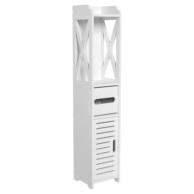 Floor Mounted Storage Cabinet Corner Bathroom Vanity Bathroom Side Cabinet Towel Box Toilet Shelf Living Room Furniture