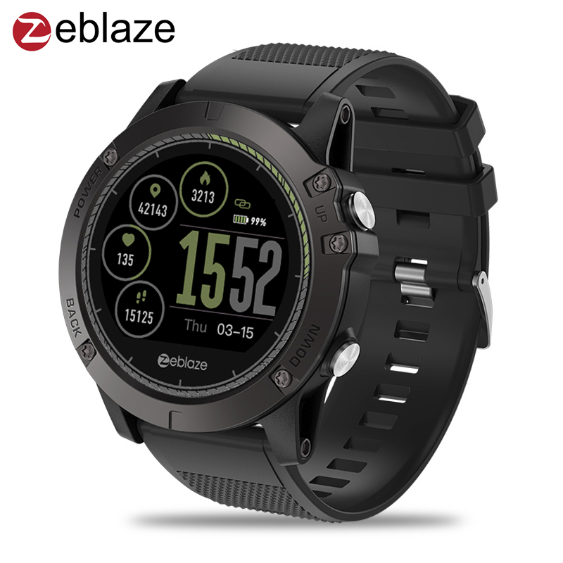 Original Zeblaze VIBE 3 HR Smartwatch IP67 Waterproof Wearable Device Heart Rate Monitor IPS Color Display Sport Smart Watch Men