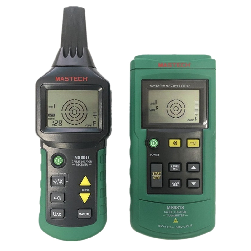 Mastech Ms6818 Portable Professional Wire Cable Tracker Pipe Locator Detector Tester Line Tracker Voltage 12~400V
