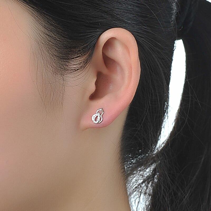JOVO Trendy fashion women Stud pendientes de plata de ley 925 joyas - Joyas - foto 2